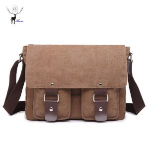 Canvas Messenger Bags For School